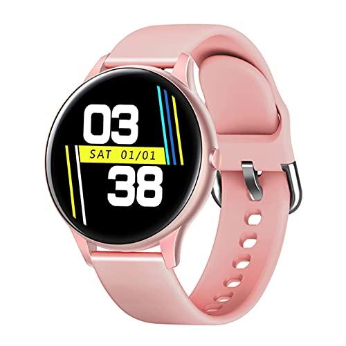 ZYY K21 1.3 Pulgadas Smart Watch Life Men's Life Impermeable Fitness Tracker Presión Arterial Monitor De Ritmo Cardíaco Bluetooth Deportes Smartwatch Señoras para Android iOS,C