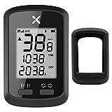 XOSS G サイクルコンピュータ GPS サイコン 無線 ワイヤレス サイクリング 自転車 速度計 スピード IPX7防水 MTB 走行距離計 Bluetooth 日本語取扱説明書 (G、カバー)