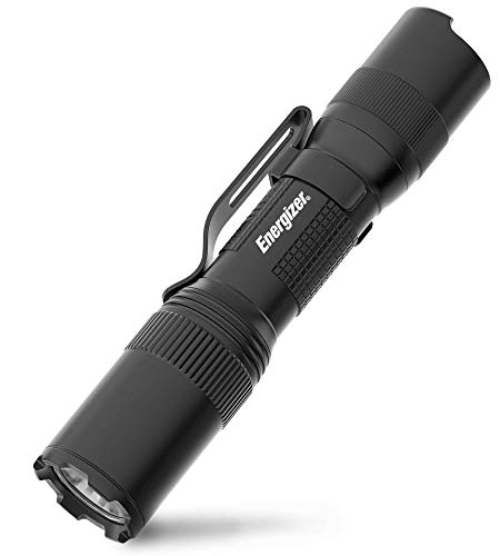 Energizer LED Tactical Flashlight, IPX4 Water Resistant, Super Bright, Heavy Duty Metal Body, Built for Camping, Outdoors, Emergency, Batteries Included, Black, Compact (Tac 1AA)
