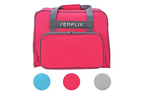 SEMPLIX Nähmaschinentasche Pink, 45x34x24   stabile Transport und Aufbewahrungs Tasche in vielen frischen Farben, für alle gängigen Haushaltsnähmaschinen