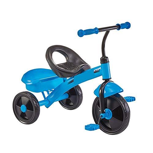Niños Juguetes Bici del Bebé Niños del Triciclo Niños Y Niñas Trasera Cesta Grande Antideslizante del Pedal Asiento Portable del Mejor Regalo For Los Niños (Color : Blue)