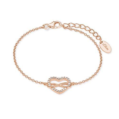 s.Oliver Armkette für Damen Infinity, 925er Sterling Silber rosévergoldet