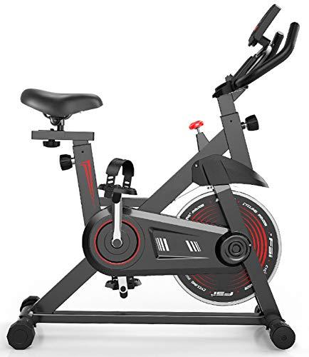 ZJMWQ Bicicletas Estaticas Ultra Silencioso Bicicleta Estatica Ajustable Bicileta Spinning con Soporte para TeléFono Bici Indoor Monitor LCD Air Bike Asiento Confortable Ciclo Indoor