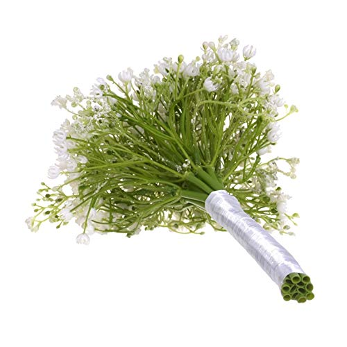 Roovtap Plastikblumen Gypsophila Plant Simulation Bouquet High-End-Dekoration Getrocknete Blumen Fake Flowers Hauptdekorationen Dried Flower (Color : Green) - 6
