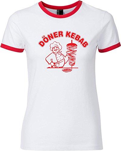 EZYshirt® Döner Kebap Damen T-Shirt Rundhals Ringer