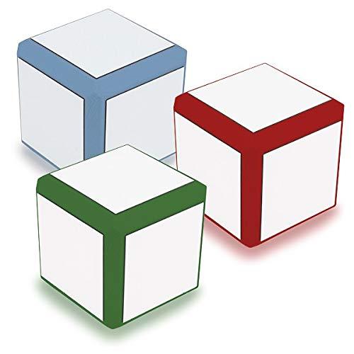 TimeTEX Blanko-Würfel mit weißen Flächen, 8 cm
