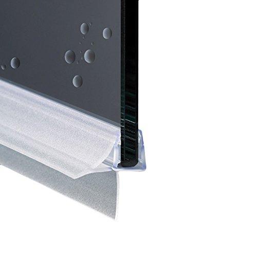 Junta para cabina de ducha con perfil horizontal de repuesto con aleta suave desagüe | Cristal 6 mm 8 mm EC-18-604 (95 cm)