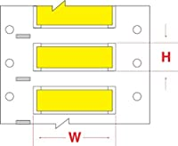 Brady HX-094-2-YL-S PermaSleeve Wire Marking Sleeves 0.197 Height 1.969 Width Polyolefin (B-7642) Yellow (Roll of 500) [並行輸入品]