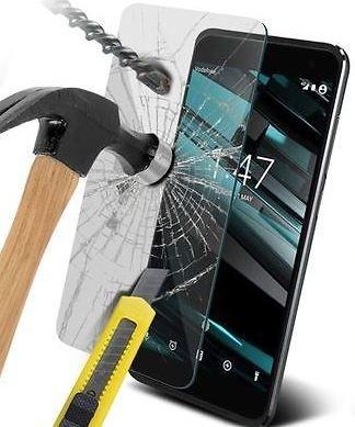 Protector de pantalla de cristal templado SS Tech® para Vodafone Smart Platinum 7. Antiburbujas, antirrasguños, antihuellas, antigrasa (4 unidades)