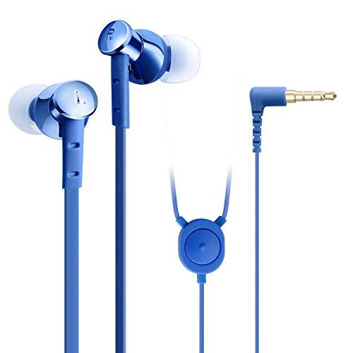 GranVela POD008 in-Ear Headphones, High Fidelity All Metal Music Earbuds(Blue).