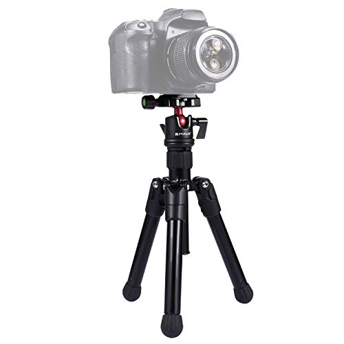 Pocket Mini Microspur Photos Magnesium Alloy Tripod Mount with 360 Degree Ball Head for DSLR & Digital Camera, Adjustable Height: 24.5-57cm, Load Max: 3kg Worry-free Quality