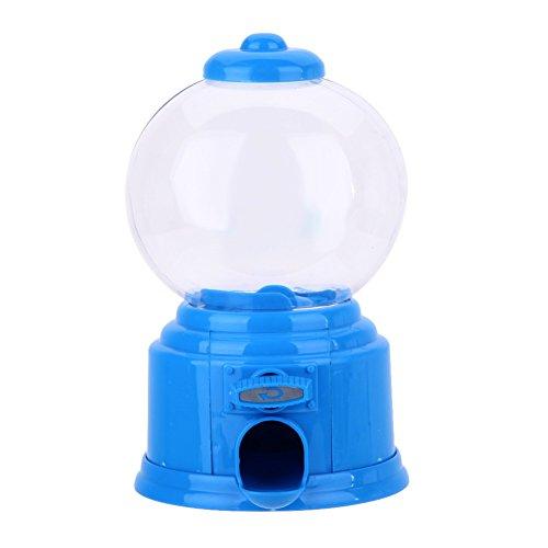 Whitelotous Mini Candy Machine Bubble Gumball Dispenser Coin Bank Kids Toy Blue