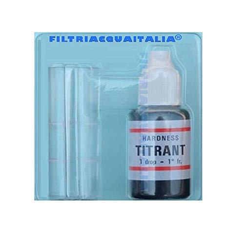 Filtri Acqua Italia Kit Analisi Durezza Acqua Titrant (Gradi Francesi) per Misurarare Calcare
