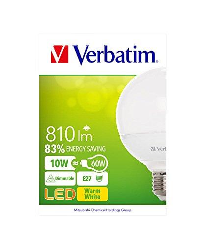 Verbatim LED Bulb, Glas, E27, 10 W, White, 1-er Pack