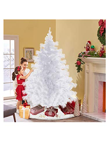 Landscap Artificial Christmas Tree,6ft Premium Unlit Hinged Pine Tree,with Metal Stand,Easy Assembly