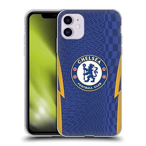 Head Case Designs Licenciado Oficialmente Chelsea Football Club Home 2021/22 Kit Carcasa de Gel de Silicona Compatible con Apple iPhone 11