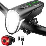Abenteurer Fahrradlicht , StVZO Fahrradbeleuchtung USB fahrradlicht Set fahrradlampe vorne...