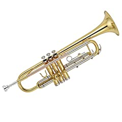 """Heavy valve button, heavy top and bottom caps; 0.464 large bore; 5"""" bell; 1st valve slide thumb hook and adjustable 3rd valve slide ring Solid yellow brass body in nickel silver plating with; cupronickel tuning slides Includes molded case, polishing ..."""