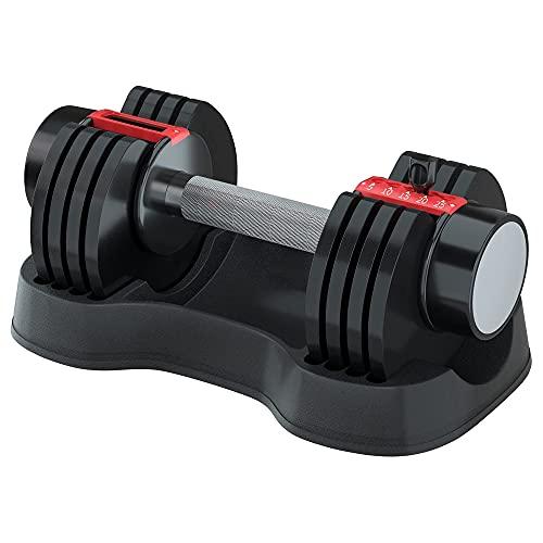 Jolitac Mancuerna ajustable, función de ajuste rápido de 5 a 25 libras con esfera de peso, mancuernas de fitness para todo el cuerpo, entrenamiento en casa y gimnasio