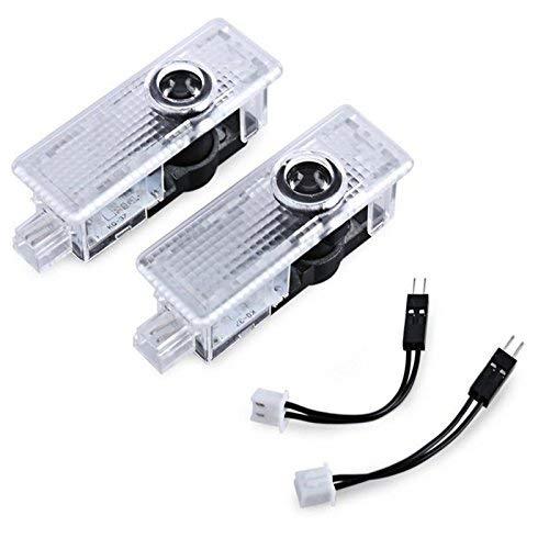Lumière de porte de voiture Courtoisie Shadow 3D Lampes Logo Projecteur 2 pièces Compatible avec Mini Cooper R55 R56 R57 R58 R59 R60 R61 F54 F55 F56 F57