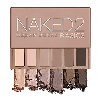 Urban Decay Naked2 Basics Eyeshadow Palette 6 Taupe & Brown Matte Neutral Shades - Ultra-Blendable Rich Colors with Velvety Texture - Makeup Set Includes Mirror & Full-Size Pans - Great for Travel