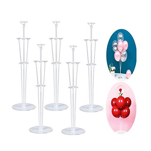 ZHOUHON Ballonbaum-Kunststoffstangen Ballonhalter, schöne Geburtstagstischdekorationen, recycelbare Ballonstange, für Weihnachtsdekorationen Geburtstagsdekorationen Wohnkultur