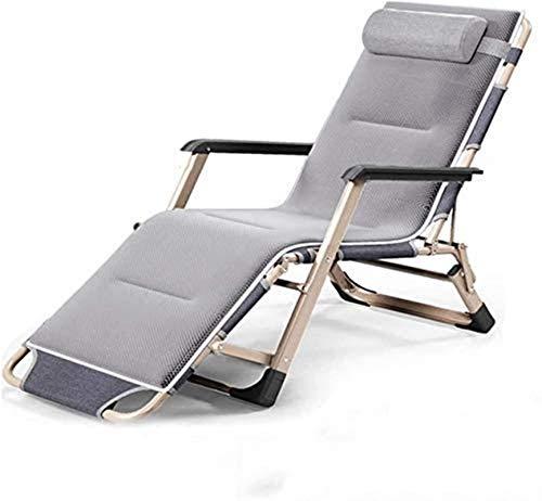 Zero Gravity Lounge Chair, Justerbar vikbädd, noll Gravity Chair, Lounge Chair, Sun Lounger, Uteservering-Rolor med bomullsplatta