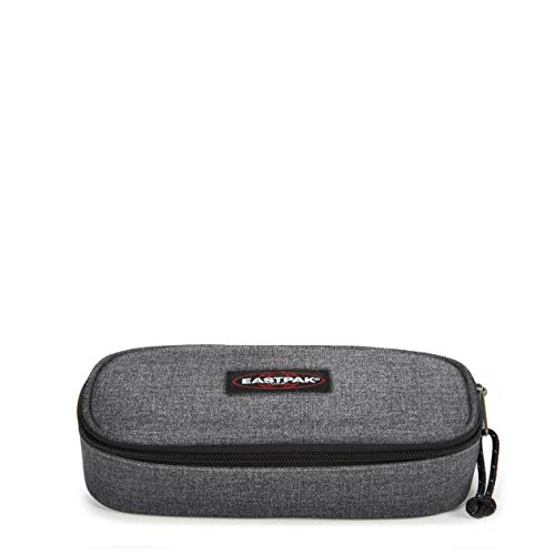 Eastpak Oval Single Estuche, 22 cm, Gris (Black Denim)