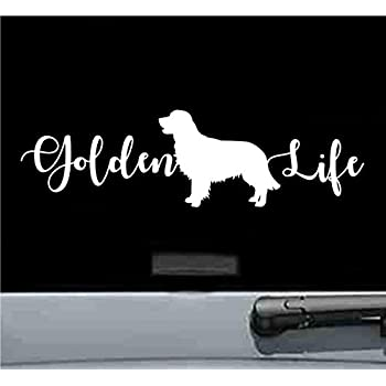 Funny Love and a GOLDEN RETRIEVER Vinyl Car Van Sticker Dog Pet Animal Lover