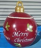 Bola decorada inflable de Navidad al aire libre, Bola decorada inflable de pvc de Navidad al aire libre, Bola inflable de Navidad gigante Decoraciones para árboles de Navidad con bomba ( Color : *C )