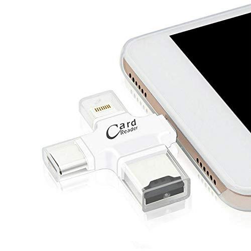 N4U Online® 4-in-1 Micro USB Typ C OTG TF Kartenleser für Samsung Galaxy S5 Neo