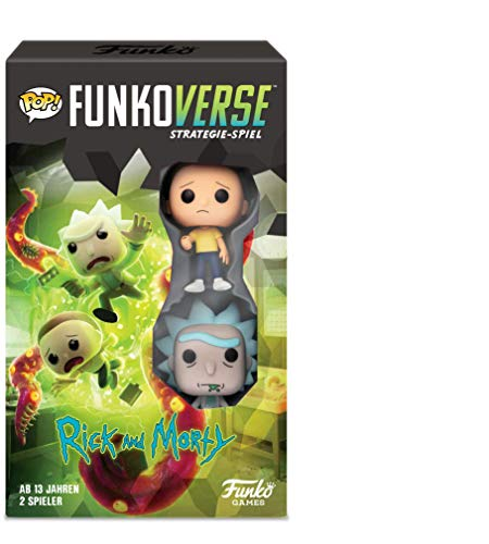 Funko 43485 Rick and Morty 100 Funkoverse Erweiterungspaket (2 Charaktere Pack) Brettspiel, Multi Colour