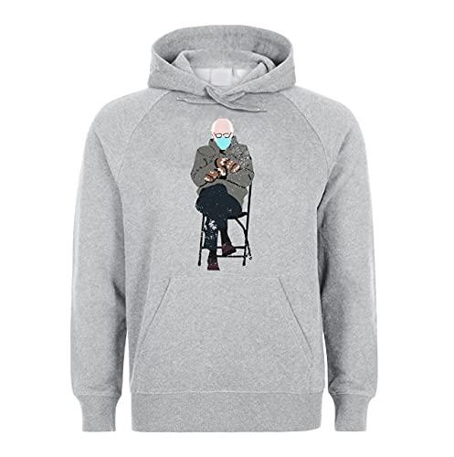 Bernie Sanders Sitting Meme Unisex Hoodie Sweatshirt Pullover Grey S
