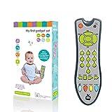 Macabolo Niños Música TV Mando a distancia Juguete temprano desarrollo pedagógico Luz de servicio suena Remote juguete para niños pequeños, Gris, WJ0175108_GY-1356-1747318271