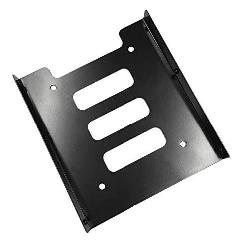 Gobutevphver Soporte de Disco Duro Profesional 2.5 Pulgadas a 3.5 Pulgadas Ssd HDD Adaptador de Metal Rack Disco Duro Soporte de Montaje Ssd Soporte para PC Negro - Negro