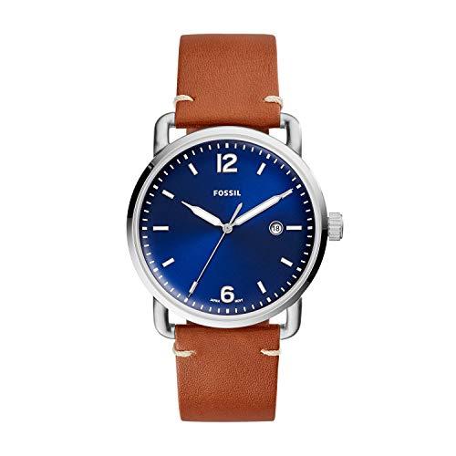 Fossil Herren Analog Quarz Uhr mit Leder Armband FS5325