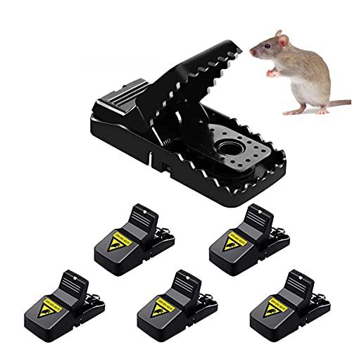 Eastor trampas para Ratas,Juego de 6 Ratonera de Plástico para Interiores y Exteriores,Fácil de Usar,Instalar de Hogar/Oficina/Garaje/Cocina