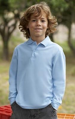 Kinder langarm Polo-Shirt 65