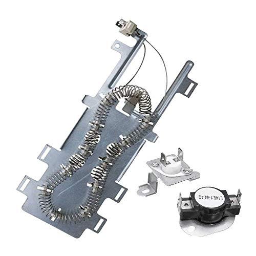 Kshzmoto Elemento Calefactor para secador de Pelo con disyuntor de fusión en Caliente 279973 y Traje de termostato aplicable al secador de Pelo Whirlpool Kenmore Maytag