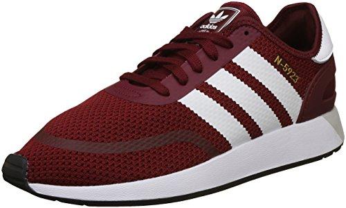 adidas Herren N-5923 Gymnastikschuhe, Rot (Collegiate Burgundy/FTWR White/core Black), 45 1/3 EU