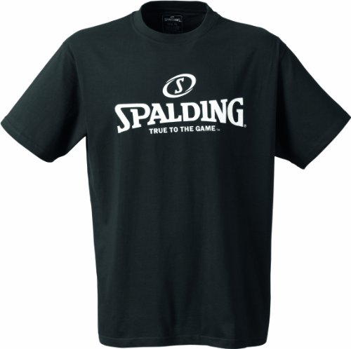 Spalding Mens Basketball-Fanartikel Logo T-Shirt, Black, 152