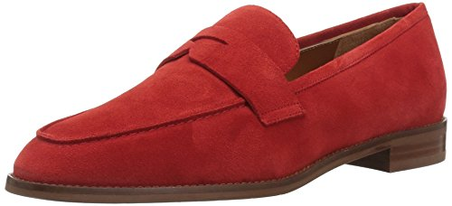 Aquatalia Women's Teresa Suede Loafer, red, 10.5M M US