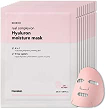 Hanskin Real Complexion Hyaluronic Moisture Mask - Hyaluronic Acid, Moisturizing, Glowing & Soft. Hanskin Official. [10 PK]