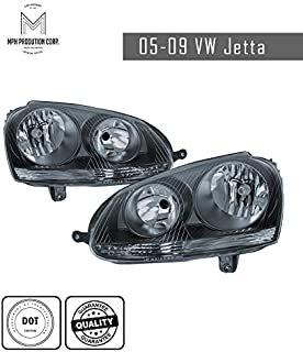 MPH 05-09 Volkswagen VW Jetta BK OEM Driver & Passenger Replacement Headlights Lamps Assembly