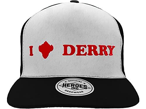 Fashion UK I Love Derry - Gorra con visera (tamaño ajustable, 100% algodón, talla única)