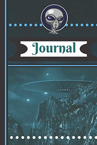 Journal: Alien UFO Spacecraft Novelty Art Gift - Lined JOURNAL, 130 pages, 6 x 9