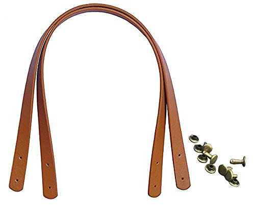 1 Pair Synthetic Leather Replacement Interchangeable Shoulder Strap with Clasps for Handbags Purse Bags