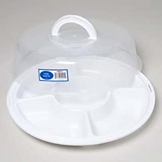 1 X Five Section Serving Tray w/ Locking Lid & Handle