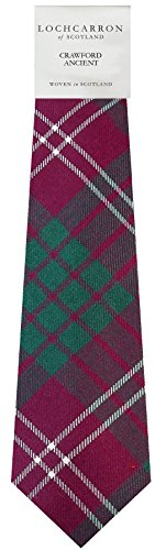 I Luv Ltd Gents Neck Tie Crawford Ancient Tartan Lightweight Scottish Clan Tie