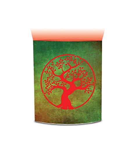 CoTa Global LED-Laterne mit Farbwechsel, Baum des Lebens, Kunst-Design, 16,5 cm, handgefertigt, für Schlafzimmer, Wohnzimmer, drinnen & draußen, tragbare Laternen, Partylichter Dekoration